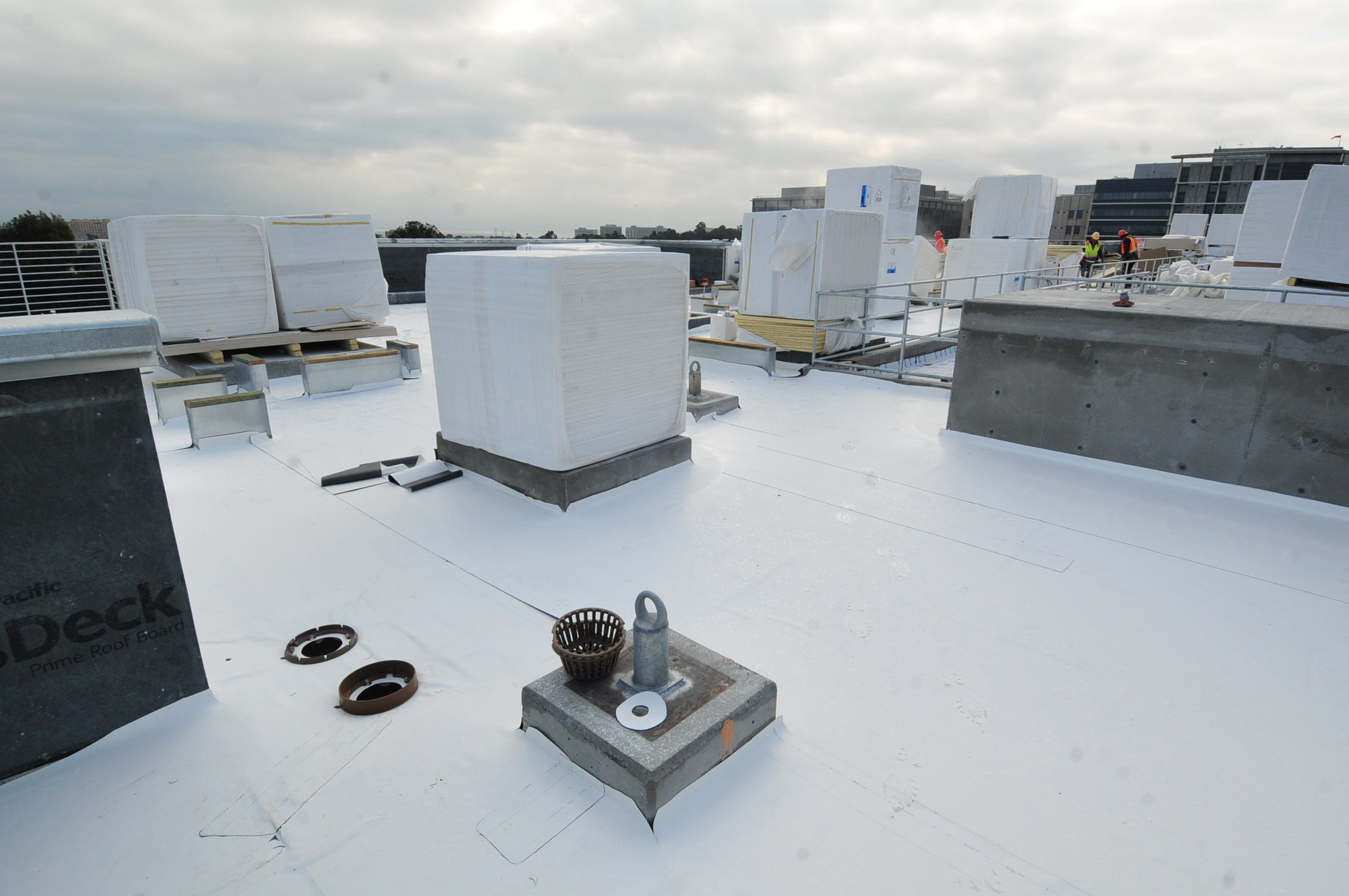 Roof-top construction photo