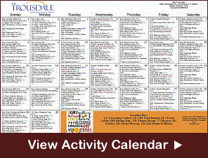 The Trousdale Community Activity Calendar
