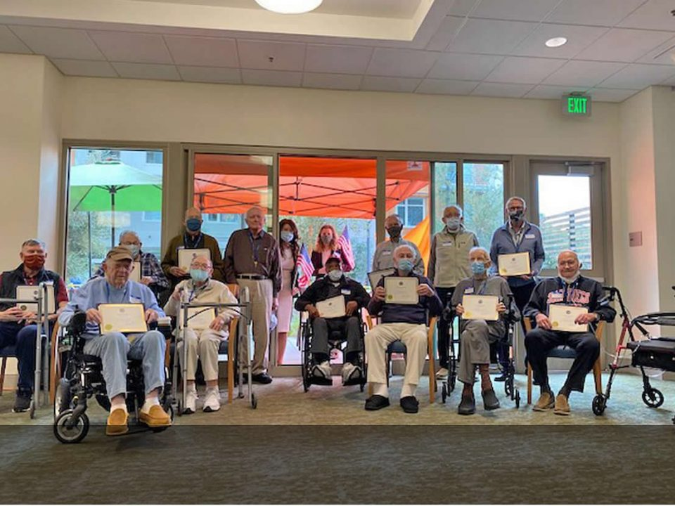 13 Veterans honored by Burlingame Mayor Emily Beach at The Trousdale